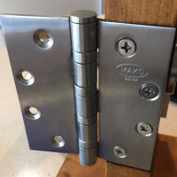 4BB Stainless Steel Door Hinges for 44mm to 50mm door thickness, 4.5x4x3.5mm, Full Mortise Butt Hinge